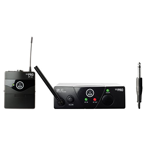 AKG WMS 40 Mini Wireless Instrument System (US 45 B, 661.100 MHz) by AKG Pro Audio