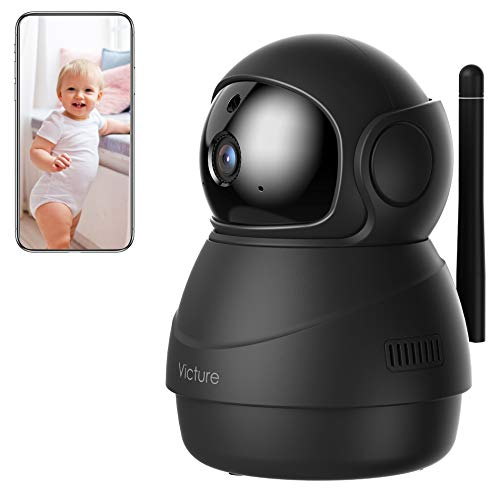 [2021 Upgraded] Indoor Camera, Victure 1080P Wi-Fi Home Security Camera, Sound Detection, Motion Detection, Motion Tracking, Cloud Service, Victure Home APP Control