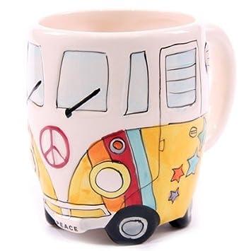 Farben Farbe:blau Hippie Bus Tasse in 3 versch