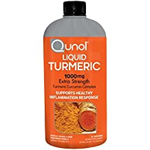 Qunol Liquid Turmeric Curcumin with Bioperine 1000mg, Anti-Inflammatory, Dietary Supplement, Extra Strength, 40 Servings