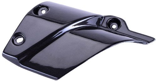 (Bestem CBYA-TENE-EHC Black Carbon Fiber Exhaust Heat Shield Cover for Yamaha Super Tenere 2012 - 2013)