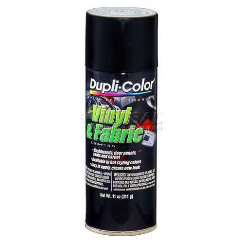Price comparison product image Dupli-Color Vinyl And Fabric Coating Flat Black 11 Oz. Aerosol - Lot of 6