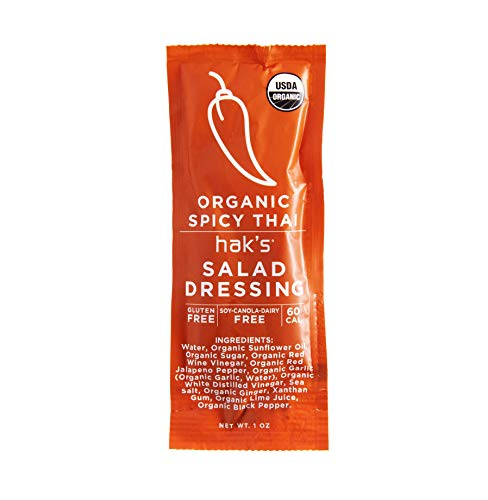 Hak's Organic Spicy Thai Dressing 50 Count (Best Thai Salad Dressing)