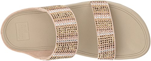 Sandalia Para Mujer Fitflop Flare Strobe Slide Gold