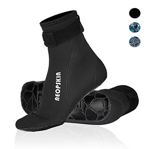 Neoprene Socks 3mm Beach Volleyball Sand Soccer Socks Water Booties Wet Shoes for Scuba Diving Swimming Surfing Snorkeling Fishing Wading Kayak (Black-High Cut, M)