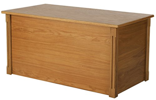 Large Oak Wooden Toy Box and Blanket Chest - All Wood - Optional Cedar Base (Cedar Base) by Wood Toy Box