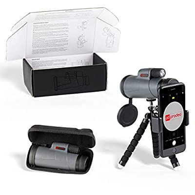 Monocular Telescope for Phone, High Power Scope/w. Flex Tripod, Smartphone Adapter, Carrying Case/for Adults Spotting Scope, Tactical Hunting, Bird Watching, Travel, Compact Spyglass