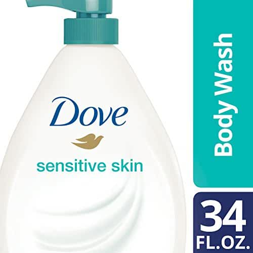 Dove Body Wash with Pump, Sensitive Skin 34 oz
