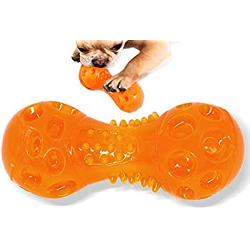 Pet Supplies : Aduck Durable Dog Squeaky Bone Chew Toys