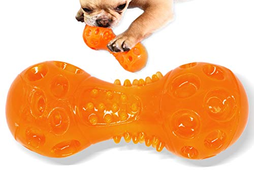 Dog Chew Toys Squeaky Dumbbel for Chewers