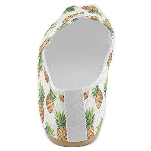 Mocassini Donna Interestprint Classico Tela Casual Slip On Scarpe Moda Scarpe Da Ginnastica Ananas Appartamenti