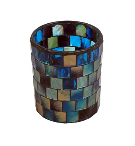 """Firefly Home Collection Mosaic Candle Holder, 3 x 3 x 3"""", Mu"""