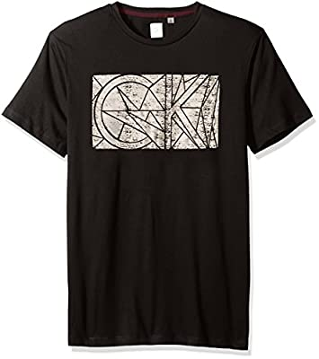 Calvin Klein Men's Short Sleeve Foil Printed Ck Logo Crew Neck T-Shirt