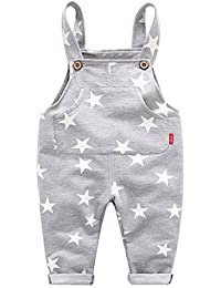 Boys Overalls Casual Trousers Star