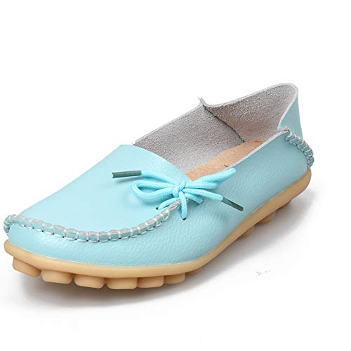 - Beautiful - Fashion Women's Leather Loafers Casual Round Toe Slip-On Moccasins Soft Comfort Driving Walking Flats Shoes