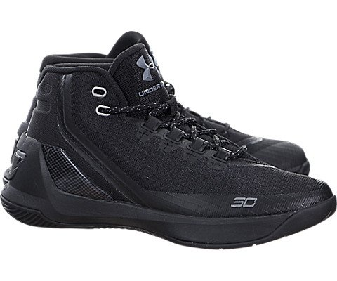 Under Armour Boys Grade School UA Curry 3 Basketball Shoes 6 Trifecta Black