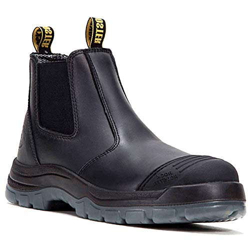 ROCKROOSTER Work Boots for Men, Steel Toe Waterproof Safety Working Shoes(AK227, 10-BLK)