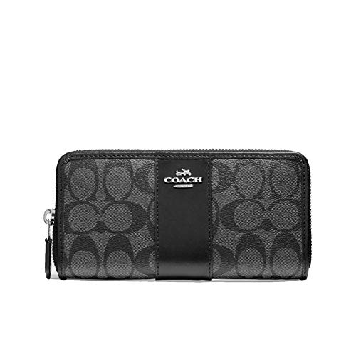Coach-Womens-Patent-Crossgrain-Leather-Accordion-Zip-Wallet