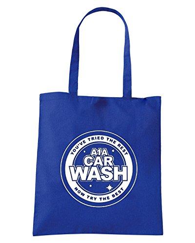 T-Shirtshock - Bolsa para la compra FUN0216 09 02 2012 A1A Carwash T SHIRT det Azul Real