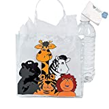 Bargain World Clear Vinyl Zoo Animal Tote Bags (With Sticky Notes)