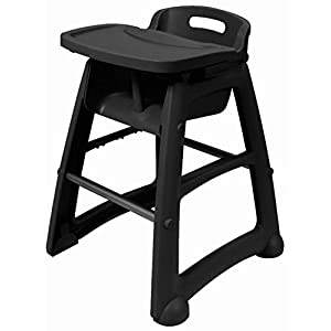 Rubbermaid Commercial High Chair Tray, Black, FG781588BLA