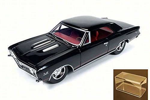 - 1967 Chevrolet Chevelle SS Tuxedo Black with Red Stripes 1/24 by Autoworld AW24006