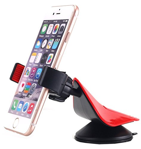 Universal 3 in 1 Car Mount Smartphone Holder - Adjustable Tight Clamp Grip Craddle - Compatible with iPhone 7 7 Plus SE 6s 6 Plus 6 5s 5 4s 4 (Adjustable Stop Male Mount)