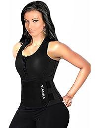 Neoprene Sauna Suit Tank Top Vest with Adjustable Shaper Waist Trainer Belt