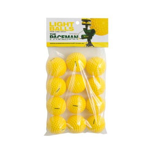 Bälle für Paceman Ballmaschine – Packung mit 12 Stück Dimension Sport