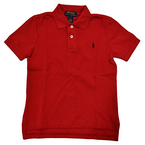 ttle Boys Mesh Polo Shirt (6, Red) ()