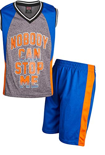 Mad Game Boys 2-Piece Basketball Performance Tank Top and Shorts Set (Royal Nobody, 8/10)'