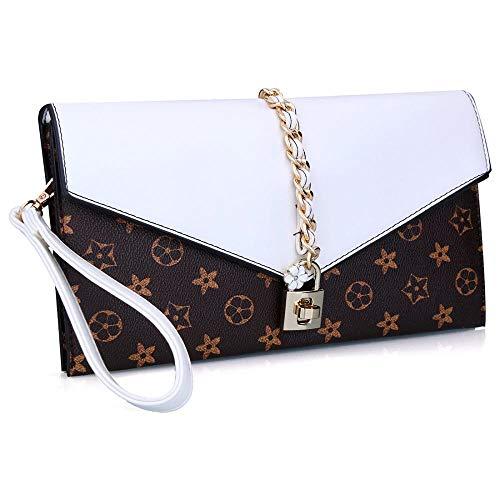 Wristlet Bag White Clutch Handbag Designer Dreamys Evening Flower With Women Oversized Lock CwAq1nxBa