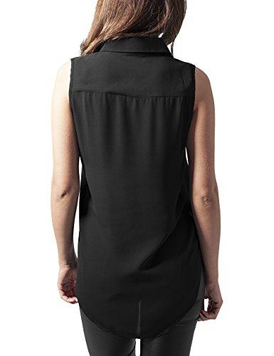 Blouse Sleeveless Donna Camicia Nero Black Urban Ladies Classics Hilo txfwYPqI