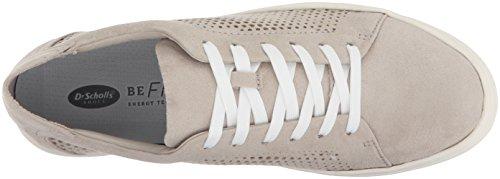 Shoes Sneaker Kinney Greige Scholl's Dr Microfiber Lace Women's Ofgxwq