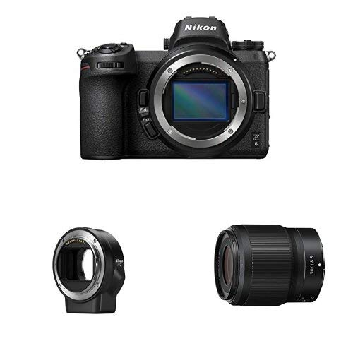 Nikon Z6 FX-Format Mirrorless Camera Body with NIKKOR Z 50mm f/1.8 S and Mount Adapter FTZ