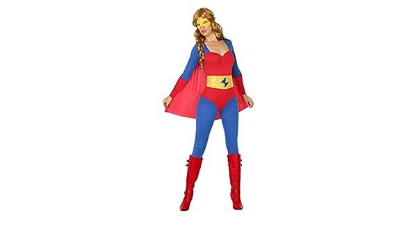 Atosa- Disfraz Mujer Super héroe Comic, Color Rojo y Azul, M-L ...