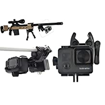 Sportmans Mount for GoPro Gun Mount for Rifle Hunting Paintball Fishing Bow Shotgun Rail Pole Clamp Clip Stabilizer Camera Mount for Go Pro Hero Hero2 Hero3 Hero3+ Hero4 Session By SublimeWare