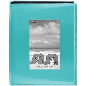 "Pioneer Sewn Frame Photo Album 7""X9"" 200 Pockets-Bright Blue"