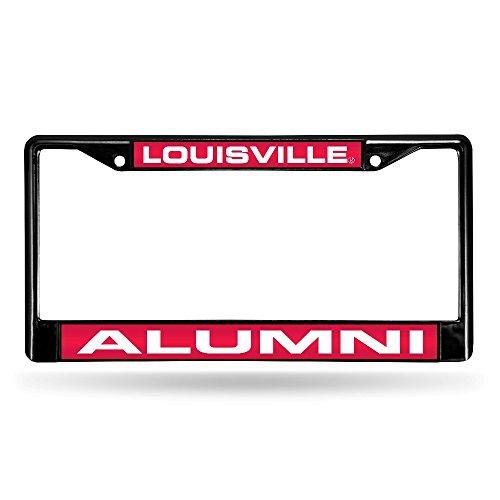 (Louisville Cardinals Laser Black License Plate Frame)