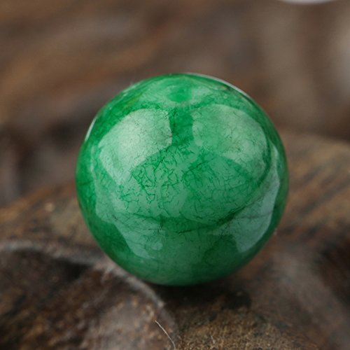 XDOBO Gemstone Loose Beads Emerald Green Jade Gemstone for Jewelry Making,Great Gifts for lovers,familiy,20 beads (12mm)