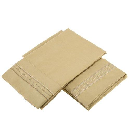 Clara Clark Pillowcases Standard Yellow