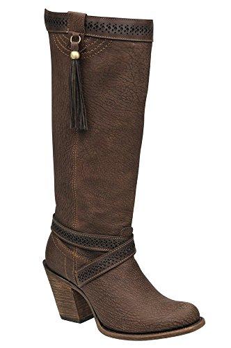 Damen Cowboystiefel Westernstiefel, Größe:40;Farbe:Cafe Esmerilado