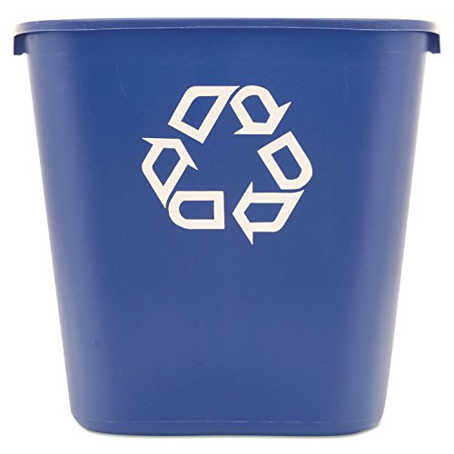 Rubbermaid Commercial 28 1/8 Quart Blue Medium Deskside Recycling Container by Rubbermaid