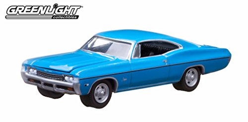 Greenlight 10th Anniversary Edition: 1968 Chevy Impala SS 1:64 Scale (Blue) Chevelle Impala