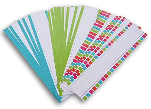 - Teaching Tree Writing Practice Word Strips - 30 Count (Green, Blue, Patterned)