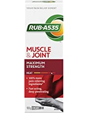 RUB·A535 Muscle & Joint Pain Relieving Heat Cream, Maximum Strength, 100-g