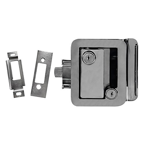NEW CHROME RV CAMPER TRAILER MOTORHOME PADDLE ENTRY DOOR LOCK LATCH HANDLE DEADBOLT
