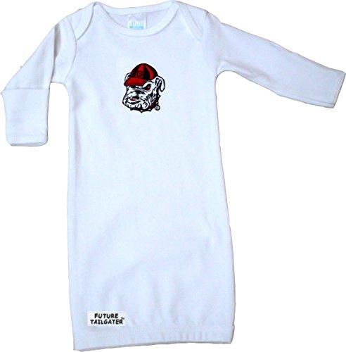 Georgia Bulldogs Baby Layette Gown