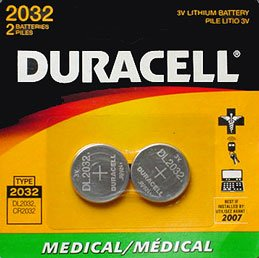 Duracell DL2032B2PK Lithium Medical Battery, 3V, (Duracell Battery Life)