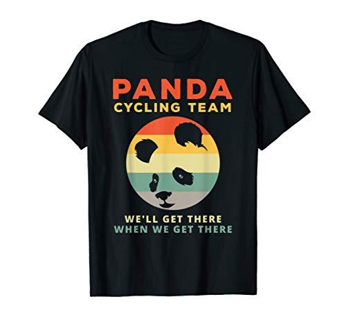 (Panda Cycling Team - Funny Quote Panda Bear Vintage T-Shirt)